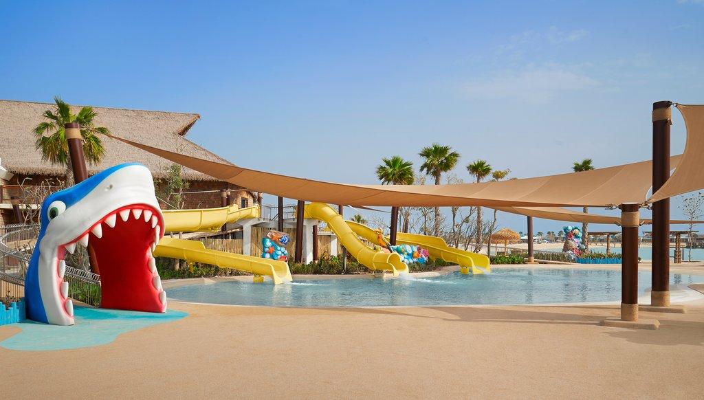 بركة السباحة للأطفال في منتجع جزيرة الموز الدوحة