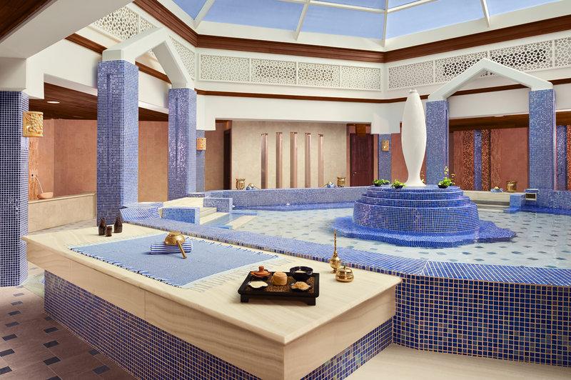 حمام تركي تقليدي في منتجع جزيرة الموز الدوحة