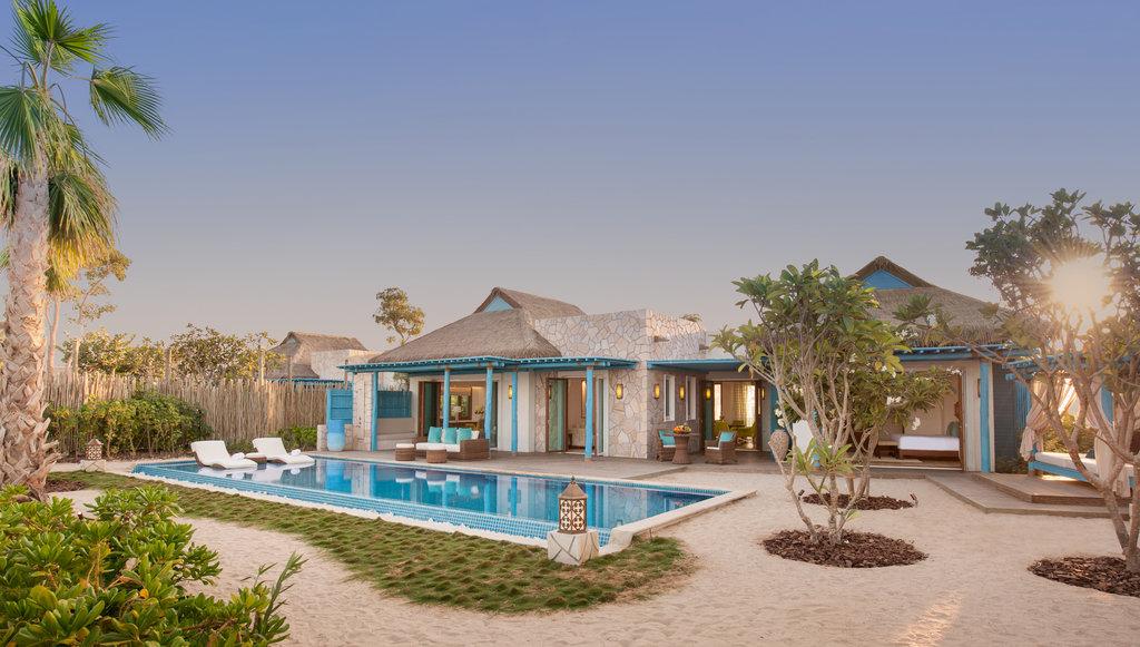 Two or three  bedrooms pool sea view villas Banana resort Doha
