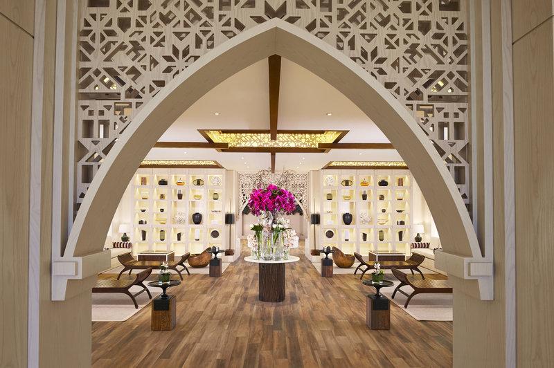 غرفة الإستقبال منتجع جزيرة الموز الدوحة