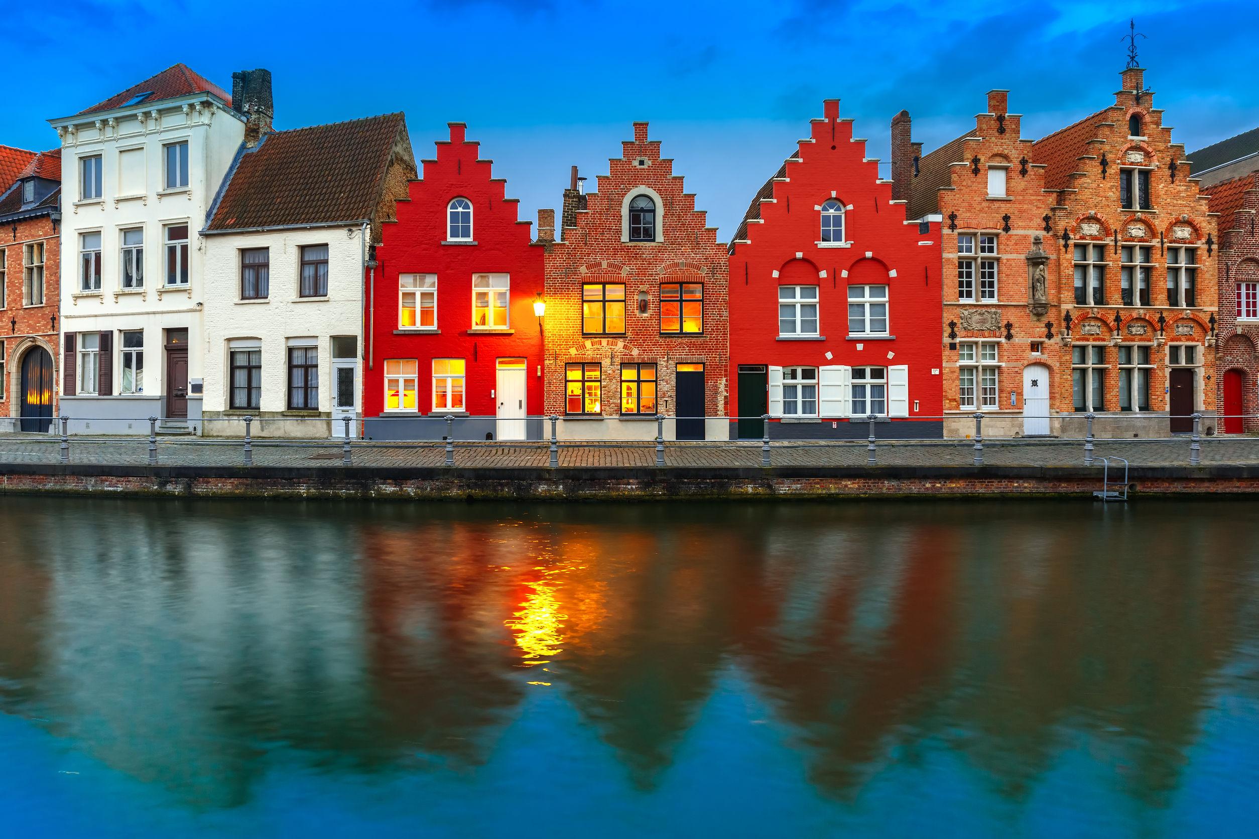 المنازل التقليدية بروج بلجيكا