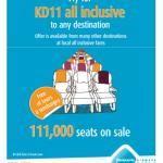 ١١١ ألف مقعد من الجزيرة للطيران ب ١١ دينار كويتي فقط