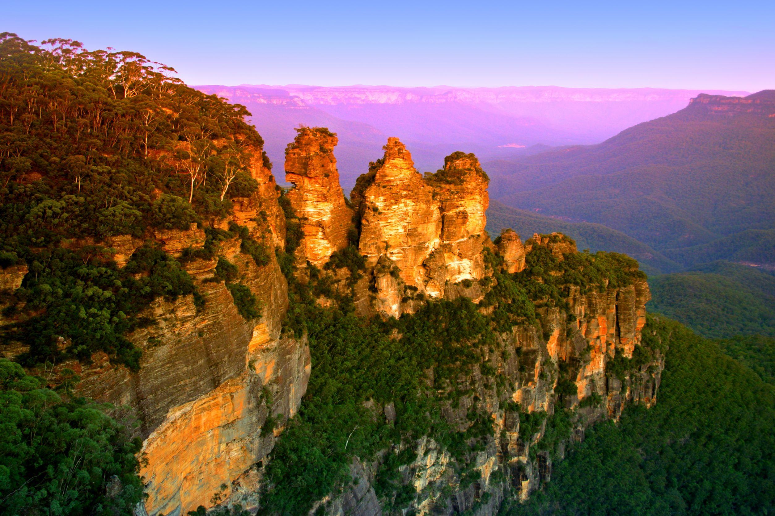 الحديقة الوطنية الجبال الزرقاء سيدني