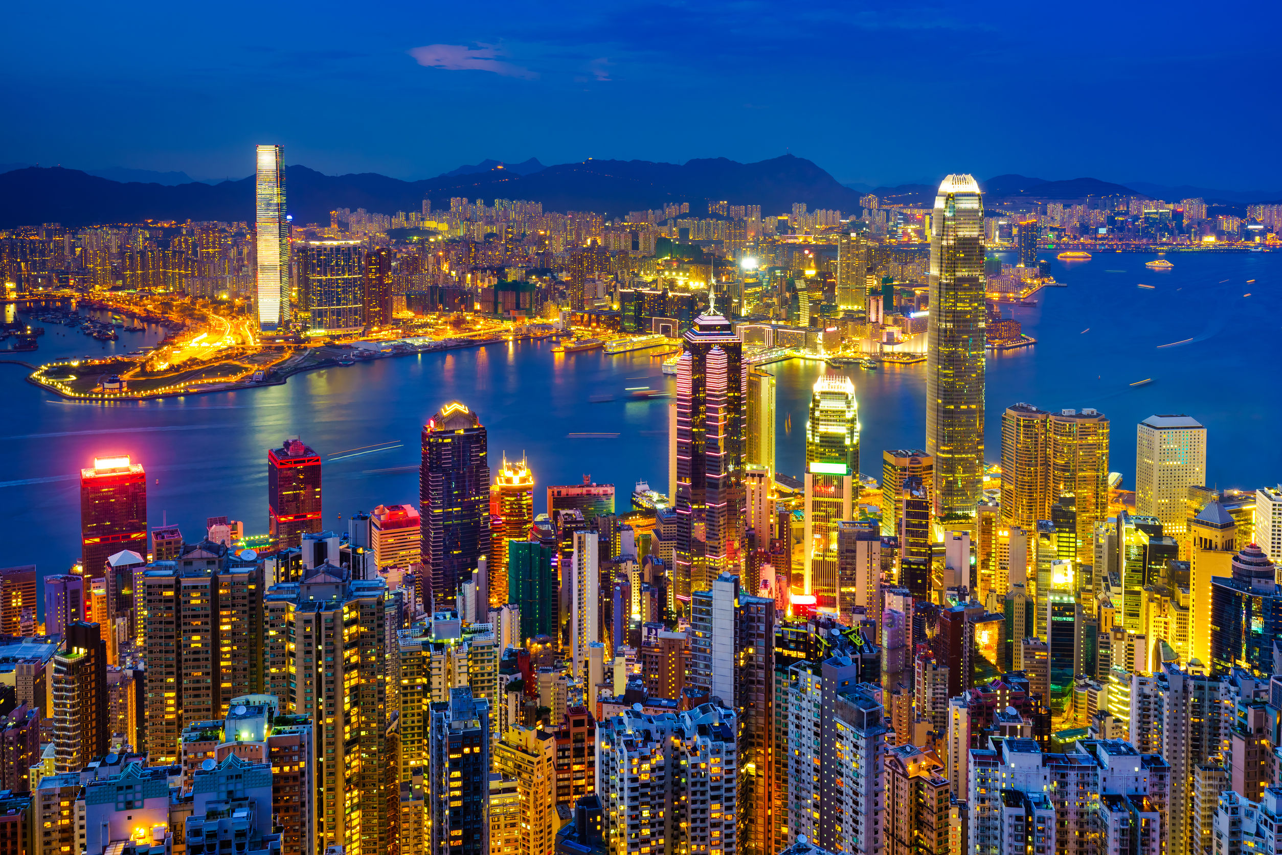 هونغ كونغ الأفق والميناء